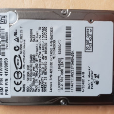 "HDD-33.HDD Laptop 2.5"" SATA 160 GB Hitachi 5400 RPM 8 MB, 100-199 GB"