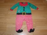 Costum carnaval serbare spiridus elf pentru copii de 6-9 luni