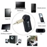 Receiver auto Bluetooth AUX Receptor Audio Stereo 3,5mm cu baterie si microfon,