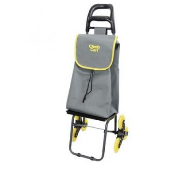 Carucior rabatabil pentru cumparaturi Climb Cart 2857, Gri/Galben foto