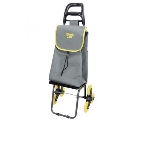 Carucior rabatabil pentru cumparaturi Climb Cart 2857, Gri/Galben