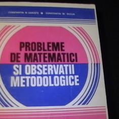PROBLERME DE MATEMATICI SI OBSERVATII METODOLOGICE-C,TIN UDRISTE-C,TIN BUCUR-, Alta editura