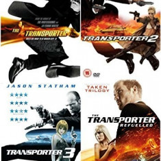 Filme Transporter / Curierul 1-4 DVD Complete Collection, Engleza, independent productions