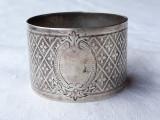 INEL argint SERVET de MASA splendid MASIV superb VECHI de colectie RAR, Inel servetele