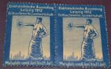 2 x Vignieta Germania - Leipzig 1912 - Expozitia de electrotehnica, Transporturi, Nestampilat