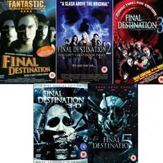 Filme Horror Final Destination 1-5 DVD Box Set Complete Collection, Engleza, productii independente