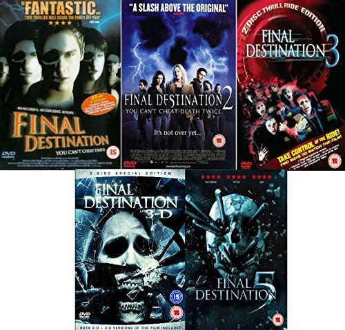 Filme Horror Final Destination 1-5 DVD Box Set Complete Collection