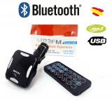 Modulator FM Auto Bluetooth Bovju MP3, cu MicroUSB, Aux, USB C214