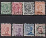 Italia 1923,Ocupatie Corfu,uzuale,supratipar serie mnh, Transporturi, Nestampilat
