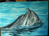 Pictura in ulei pe panza, Animale, Realism