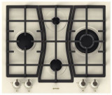 Plita incorporabila Gorenje GW65CLI, 4 arzatoare, gaz, aprindere electrica, arzator wok, bej