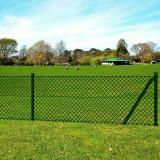Plasă de gard cu accesorii pentru fixare stâlpi gard 0,8 x 15 m