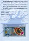 ROMANIA, 2000 LEI 1999, UNC în folder și plic BNR_serie A001A...