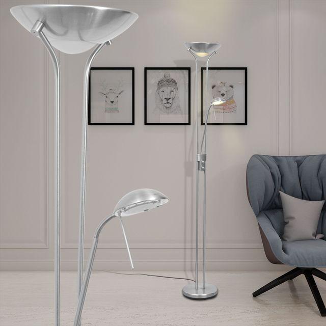 Lampă de podea cu iluminare LED și intensitate variabilă 23 W foto mare
