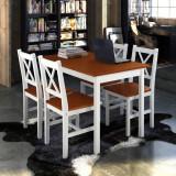 Set mobilă din lemn masă cu 4 scaune Maro