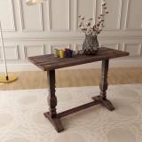 Masă consolă tip piedestal, lemn solid de salcâm 100x40x75 cm