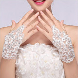 MANUSI de MIREASA dantela fara degete scurte ACCESORII nunta IEFTINE