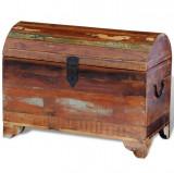 Cufăr de depozitare din lemn masiv reciclat