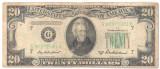 SV * SUA  /  Statele Unite  20  $  dollars  1950