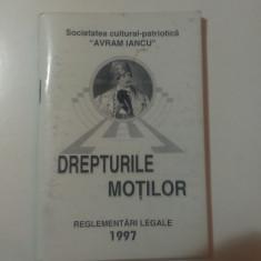 DREPTURILE  MOTILOR  - REGLEMENTARI  LEGALE / 1997.