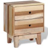 Noptieră din lemn masiv reciclat