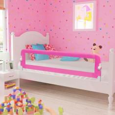 Apărătoare de pat pentru copii mici, 150 x 42 cm, roz