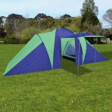 Cort camping 6 persoane, Bleumarin/Verde