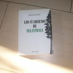 LOS CUADERNOS DE VELINTONIA JOSE LUIS CANO