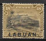 Labuan 1894, Nestampilat