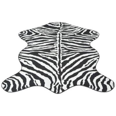 Covor decupat cu imprimeu zebră, 150 x 220 cm foto