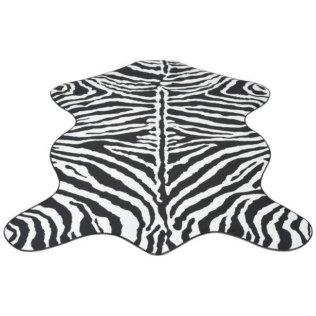 Covor decupat cu imprimeu zebră, 150 x 220 cm foto mare
