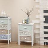 Dulap shabby chic franțuzesc din lemn cu 3 sertare