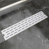 Rigolă duș liniară, model linie, oțel inoxidabil, 530 x 140 mm