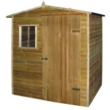 Cabană casă de grădină tip șopron, lemn de pin tratat, 1,5x2 m