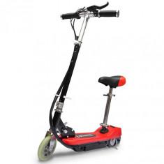 Trotinetă electrică cu scaun, 120 W, roșu