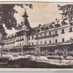 Bnk cp Calimanesti - Marele Hotel al Societatii - circulata 1937, Printata