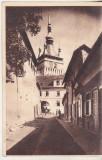 bnk cp Sighisoara - Strada in orasul vechi - uzata