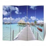 Paravan despărțitor cu imprimeu tropical, 200 x 180
