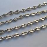 Lant argint foarte vechi superb,model lant ancora marina