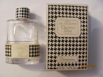 "PVM - Sticla veche originala Christian Dior Apa de Toaleta ""Diorissimo"" Franta foto"