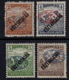 ZONA DE OCUPATIE ROMANIA 1919  - DEBRETIN 1  SECERATORII CU SUPRATIPAR    MNH, Nestampilat