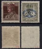 ZONA DE OCUPATIE ROMANIA 1919  - DEBRETIN 1  MICHEL NR 39a SI 41 MNH, Nestampilat