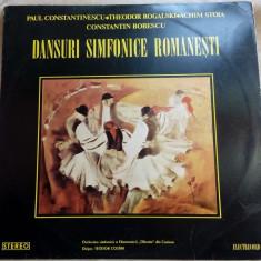 DISC LP: PAUL CONSTANTINESCU/TH.ROGALSKI/ACHIM STOIA/C.BOBESCU-DANSURI SIMFONICE