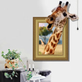 Sticker perete 3D Girafa 90x60cm
