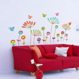 Sticker Flori colorate si fluturasi