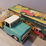 Jucarie veche colectie, din tabla, camion transport pasari MF 985 China anii '70