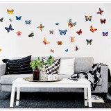 Sticker decorativ fluturi colorati