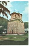 (A)carte postala(ilustrata)-GORJ-Manastirea Tismana, Circulata, Printata