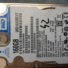Hard Disk Laptop 160GB hdd WD Scorpio Blue  , 5400rpm SATA 3Gb/s 2.5""