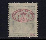 ZONA DE OCUPATIE ROMANIA 1919  - DEBRETIN 1  25 FILLER CAROL EROARE   MNH, Nestampilat